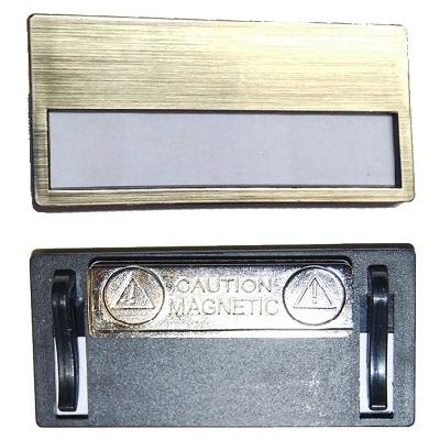 Καρτελάκι ονόματος με Μαγνήτη, Χρυσό -27757-18