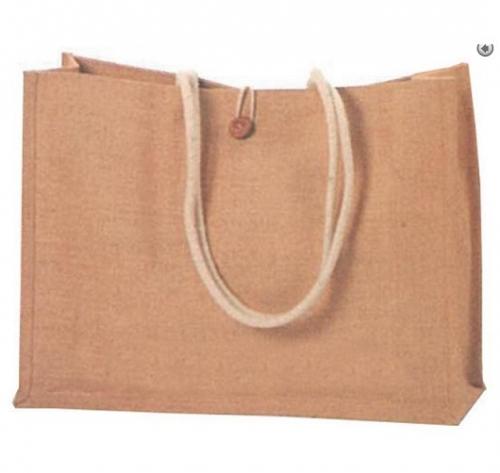 Τσάντα από λινάτσα με χερούλια από σκοινί  29980