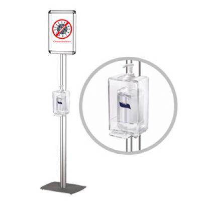 Stand υγιεινής με dispenser & σήμανση Α4. DS-HSS
