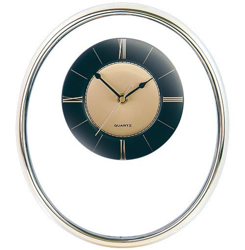Ρολόι τοίχου χρυσό με τζάμι