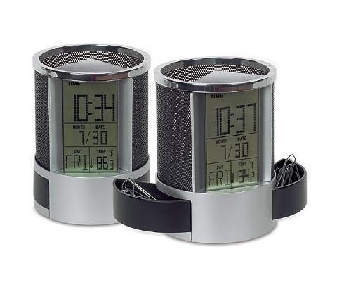Επιτραπέζιο ψηφιακό ρολόι ξυπνητήρι, Ημερολόγιο, κύβος, θερμόμετ