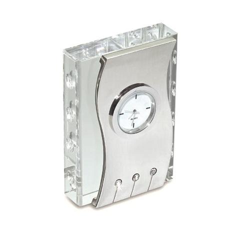 Επιτραπέζιο Ρολόι κρύσταλλο, μέταλλο. 7006