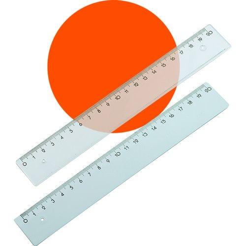 Χάρακας πλαστικός ημιδιαφανές 20 cm 1300-86