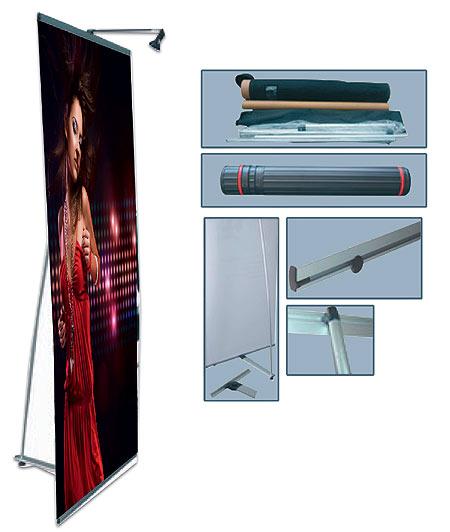 Roll up banner Σταντ προβολής. 80x200cm. L-BANNER-9
