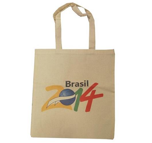 Τσάντα πάνινη βαμβακερή οικολογική με μακρύ χερούλι-21030