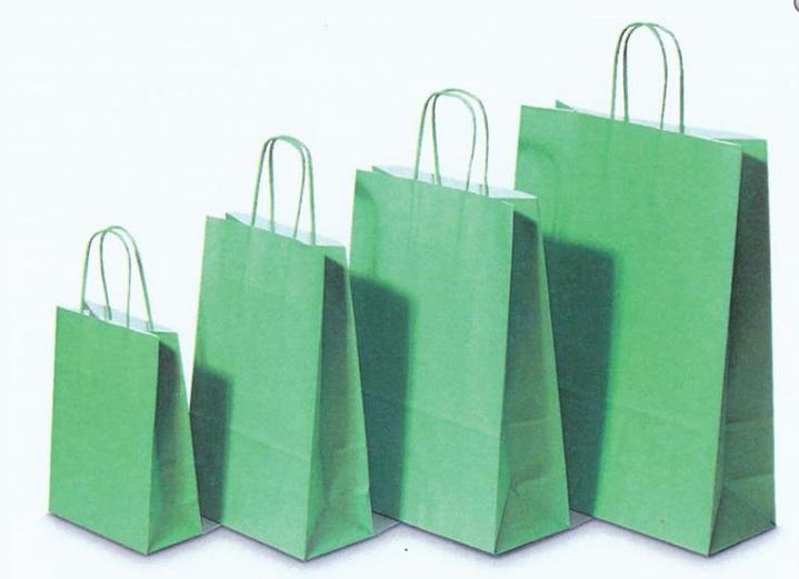 Χάρτινη τσάντα λαχανί με στριφτό χερούλι 31704