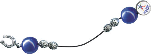 Μπεγλέρι Επάργυρο με (ημιπολύτιμες χάντρες). 856-129