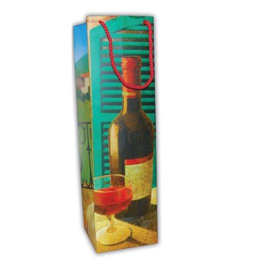 Τσάντα κρασιού Χάρτινη. 23371