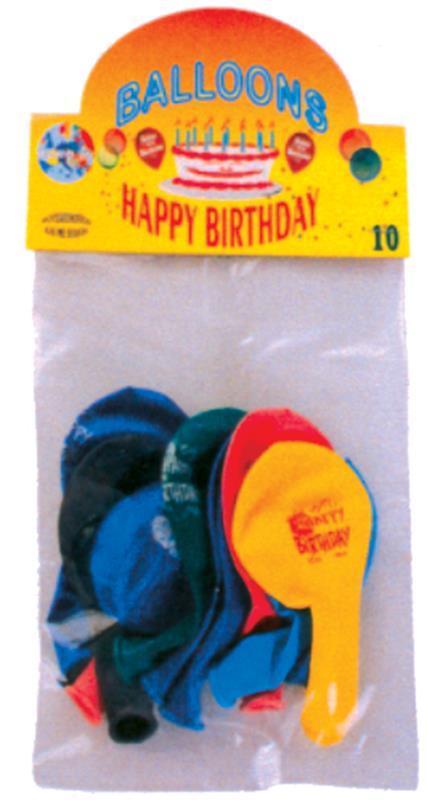 Μπαλόνια happy birthday 10 τεμαχίων. 25865