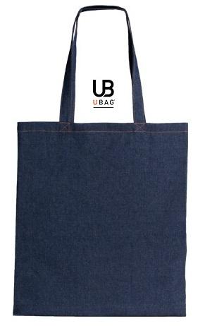 Τσάντα αγοράς από ύφασμα τζιν. L-DALLAS