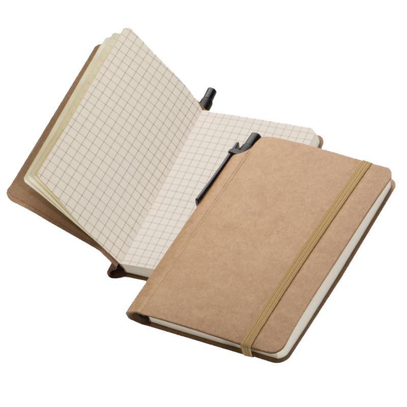 Σημειωματάριο eco με λάστιχο και στυλό. 22260