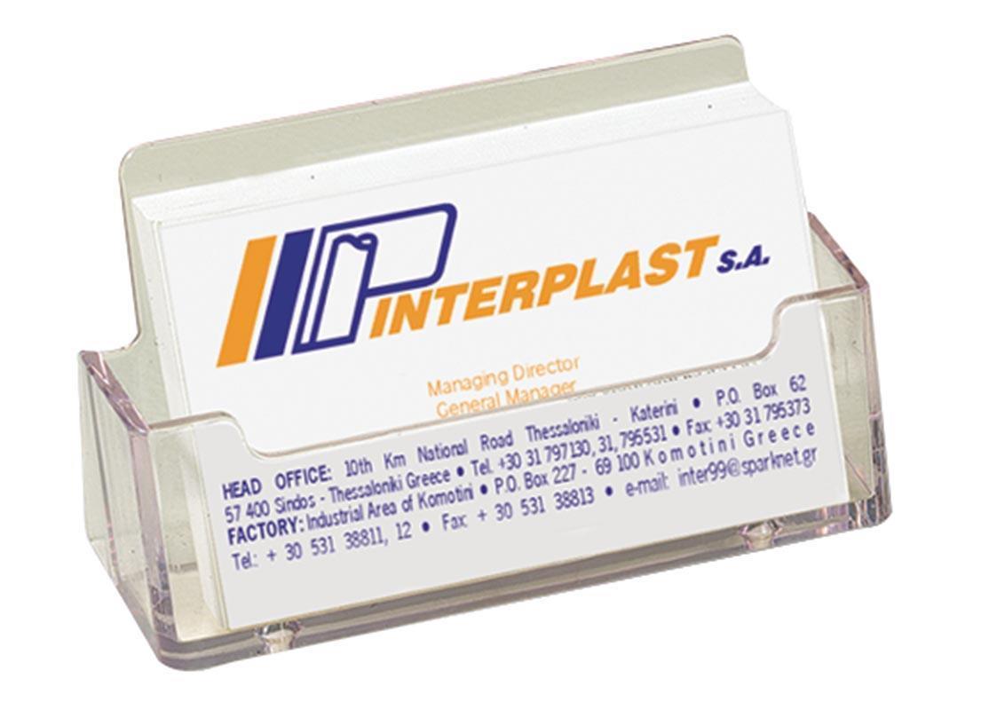 Σταντ ακρυλικό για κάρτες 10,5x4.5x4.5cm.-cod 05085