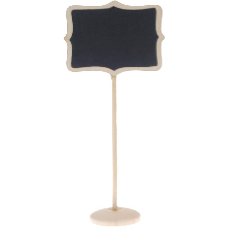 Πινακίδα μαυροπίνακα ξύλινη Υ17.5x8.6εκ. 35203