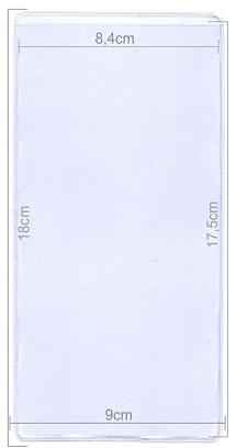 Πλαστική θήκη για καρτέλα 18x9cm. code 051