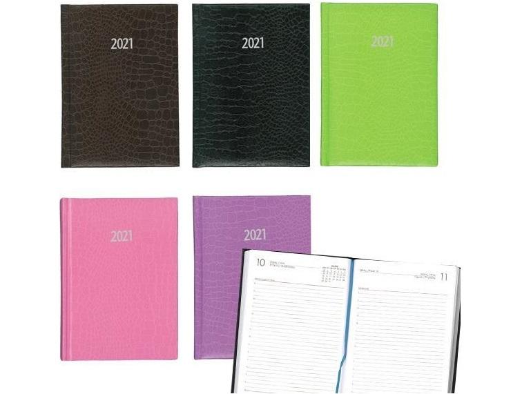 Ημερήσιο ημερολόγιο LUXUS 17x25cm με υφή δέρματος κροκοδείλου