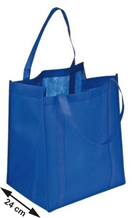 Τσάντα αγοράς non-wooven μεγάλη με φαρδύ πάτο 24 cm. 29985