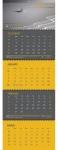 4 μηνιαίο ημερολόγιο τοίχου σπιράλ 34.5x97εκ. 02053