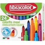 Fibracolor μαρκαδόροι ζωγραφικής Colorito maxi 24χρώμ. 22468