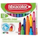 Fibracolor μαρκαδόροι ζωγραφικής Colorito maxi 12χρώμ. 22467