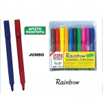 Rainbow μαρκαδόροι ζωγραφικής jumbo με χοντρή μύτη 10χρώμ.30216