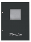 Wine list Τιμοκατάλογος Α4 basic μαύρος, με παράθυρο, 11253-09