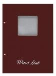 Wine list Τιμοκατάλογος Α4 basic μπορντό, με παράθυρο. 11253-04