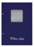 Wine list Τιμοκατάλογος Α4 basic μπλε, με παράθυρο.11253-03
