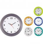Ρολόι Τοίχου Ημιδιαφανές πλαστικό με δυνατότητα αλλαγής καντράν