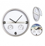 Ρολόι Τοίχου με θερμόμετρο και υγρόμετρο. Διαθέτει μηχανισμό ενα