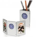 Ρολόι / Μολυβοθήκη με δύο θέσεις για φωτογραφίες. Ειδικό κούμπωμ