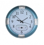 Ρολόι τοίχου θερμόμετρο, υγρόμετρο, ΓΙΓΑΣ 45 εκ.