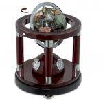 Επιτραπέζιο  ρολόι, Σετ Γραφείου Ξύλο Μέταλλο με υδρόγειο σφαίρα