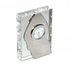 Επιτραπέζιο Ρολόι κρύσταλλο, μέταλλο. 4780