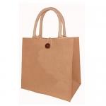 Τσάντα από λινάτσα με χερούλια - 29983