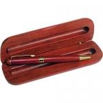 Στυλό καρυδιάς με χρυσό κλιπ και ξύλινη θήκη 1760-100