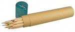 Ξυλομπογιές με 12 χρ. οικολογικές + ξύστρα σε χάρτινη θήκη.21007