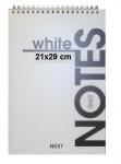 Μπλοκ σπιράλ λευκό 80 φύλλων 21x19. 01375