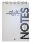 Μπλοκ σπιράλ λευκό 80 φύλλων 17x25. 01376