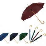 Ομπρέλα βροχής χειρός με ξύλινο χερούλι 2455-169-Τ