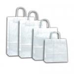 Χάρτινη τσάντα Λευκή  με στριφτό χερούλι 27100