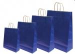 Χάρτινη τσάντα μπλε με στριφτό χερούλι 31703