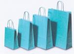 Χάρτινη τσάντα γαλάζια με στριφτό χερούλι. 31722