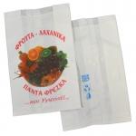 Χάρτινα σακουλάκια λευκά μαναβικής με εκτύπωση. 441-21