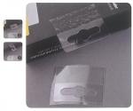 Αυτοκόλλητο πλαστικό κρεμαστάρι με τρύπα (blister) 21581