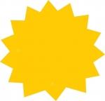 """Επιγραφή τιμών  Ø17εκ.  Έκρηξη"""" κύκλος μικρός. 06896"""
