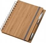 Σημειωματάριο σπιράλ με στυλό. Εξώφυλλο από μπαμπού. 22208