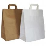 Χάρτινες τσάντες με πλακέ χερούλι από 0,16€. 31752