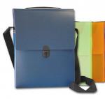 Τσάντα συνεδρίου όρθια με ιμάντα, Υ32x24x5εκ. ράχη,. 03660