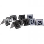 Αριθμοί τραπεζιού inox από 21 έως 30 Υ7x7.5εκ. βάση-35247-03