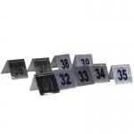 Αριθμοί τραπεζιού inox από 31 έως 39 Υ7x7.5εκ. βάση-35247-04